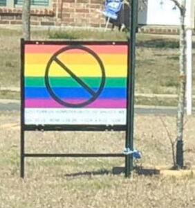 Pastor erects anti-gay sign after he discovers neighbors are same-sex couple