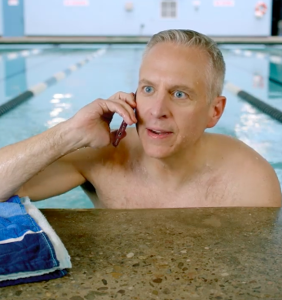 We're totally here silver fox congressional candidate John Blair's shirtless campaign video
