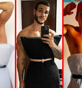 "PHOTOS: Guys are posting thirsty pictures of themselves for the ""Quarantine Pillow Challenge"""
