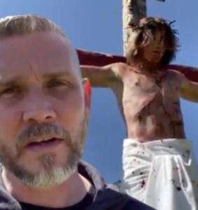 Antigay pastor refuses to cancel church, invites hundreds of people to watch his son be crucified
