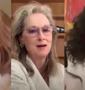 WATCH: Christine Baranski, Meryl Streep & Audra McDonald are the ladies who lunch (from home)