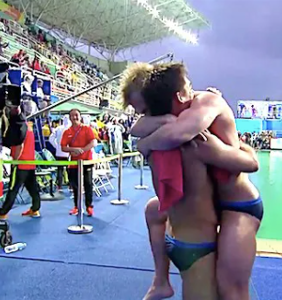 """When the newspaper called two male Olympians hugging """"unmanly,"""" the internet went bananas"""