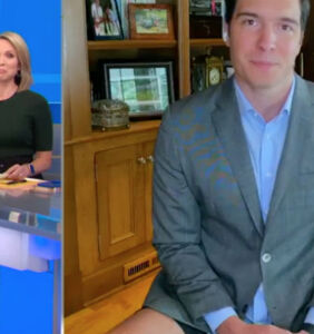 News reporter gets caught without pants in at-home interview
