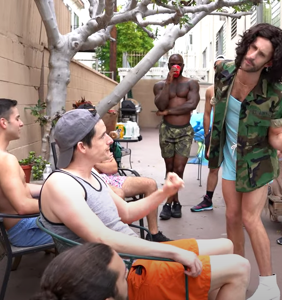 WATCH: Jimmy Fowlie crashes a West Hollywood pool party with disastrous results