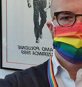 British ambassador to Poland wears rainbow face mask for LGBTQ rights