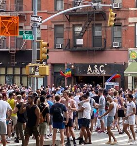 Hordes of people pack New York's gayborhood without masks or distancing