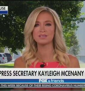 """Kayleigh McEnany once again outdoes herself with vile defense of Trump's """"white power"""" retweet"""