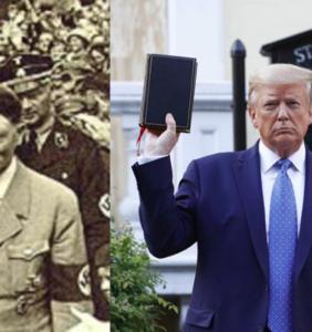 Suddenly that Trump upside down Bible photo op all makes sense
