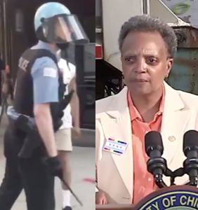 """Lori Lightfoot vows to identify nameless cop caught on tape calling protestor a """"f*cking f*ggot"""""""