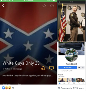 "Sheriff insists racist ""White Guys Only"" Grindr profile doesn't belong to his officer"