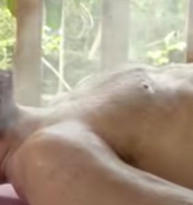 WATCH: What on Earth is being blown all over Zac Efron?