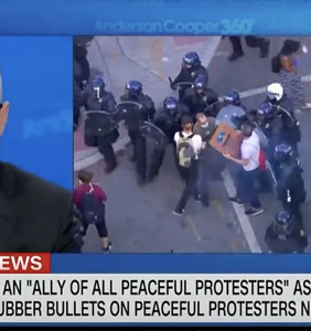Anderson Cooper rips into Trump for teargassing peaceful protestors after cowering in a bunker