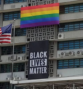 US embassy removes its Black Lives Matter banner and rainbow flag