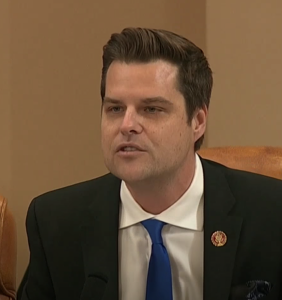 Matt Gaetz is fighting with sit-com stars on Twitter about Charlie Sheen because that's what he does