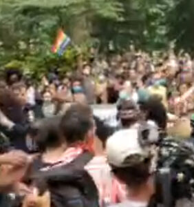 Peaceful NYC pride protest turns violent as police use gas on anniversary of Stonewall