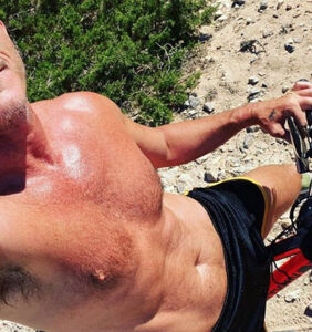 Luke Evans posts sweet, and ridiculously hot, vacation photos