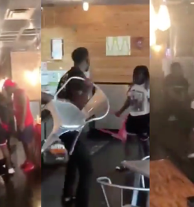 Restaurant fires worker after he is called antigay slur and beaten by customers in shocking video