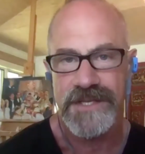 WATCH: Christopher Meloni emerges from lockdown with exciting news
