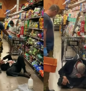 Anti-masker rams woman with shopping cart, gets pepper-spayed, bursts out sobbing