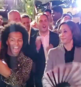 WATCH: That time Shangela taught Kamala Harris how to clack a fan at a gay bar