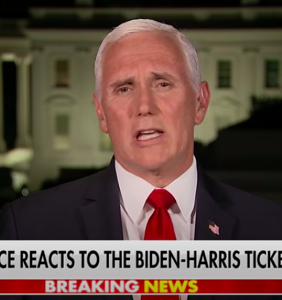 Trembling Mike Pence swears he's totally not nervous about debating Kamala Harris
