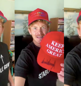 Seriously, nobody have sex with this awful gay Trump superfan