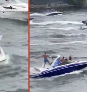 This sinking boat at a Trump boat parade is another perfect metaphor for 2020