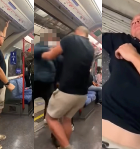 Maskless bigot knocked unconscious after going on racist tirade on crowded subway