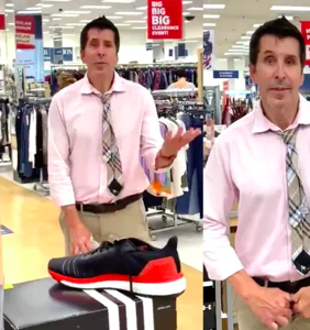Former talk show host unzips pants during homophobic anti-mask meltdown inside discount store
