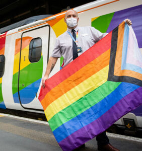 Rainbow-flag train with LGBTQ crew launched by major travel operator