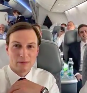 Ivanka tweeted a video of Jared on a commercial flight and, of course, he's not wearing a mask