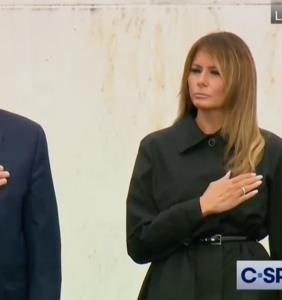 Trump struggles to recite the Pledge of Allegiance at 9/11 memorial in super awkward video