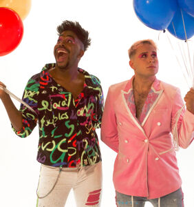 """EXCLUSIVE: Real-life boyfriends Fab The Duo drop their wild track """"Party for Two"""""""
