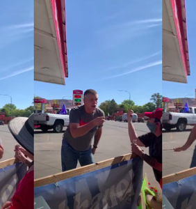 Trump supporter says 'Black lives don't matter,' shouts antigay slurs, and coughs on activists