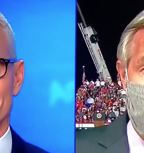 40 second clip of Anderson Cooper's face captures America's mood