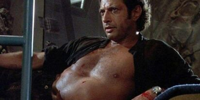 Jeff Goldblum recreates his sexy 'Jurassic Park' pose, and we're thirsty