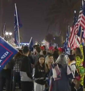 Protests over COVID curfews in California attract–you guessed it–maskless protesters