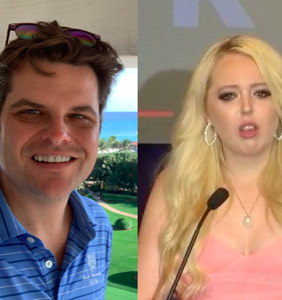 People are grossed out by Matt Gaetz's tweet implying that he's deeply aroused by Tiffany Trump