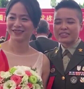 So, Taiwan just married two gay officers in a military ceremony