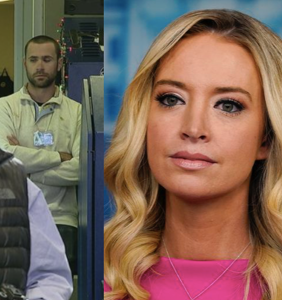 Kayleigh McEnany's husband crashes press briefing, argues with reporter after refusing to wear mask