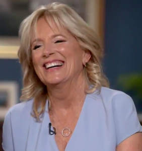 Dr. Jill Biden can't stop LOLing about people who criticize her for being too educated