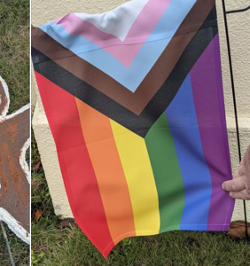 Gay couple's Christmas decorations vandalized in grossest way possible