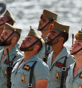 Everyone's salivating over the elite Spanish Army's revealing uniforms