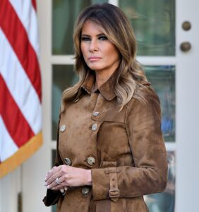 Melania was busy doing a photo shoot as domestic terrorists stormed the U.S. Capitol blocks away