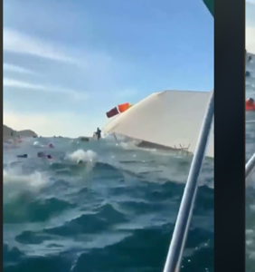 "Jeffrey Sanker's ""superspreader"" party cruise sinks ""like the Titanic"" after backlash"