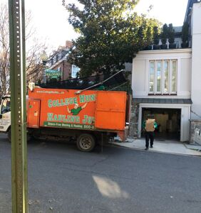 Everyone's freaking out about the junk removal truck parked outside Ivanka's house