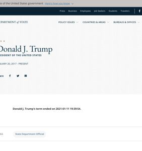 """""""Disgruntled employee"""" changed State Department's website to say Trump's term was already over"""
