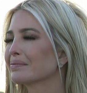 Ivanka sobs in a $3000 designer coat during her dad's goodbye rally