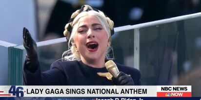 We need to talk about how Lady Gaga just slayed the National Anthem at Biden's Inauguration