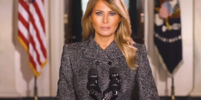 Melania's final farewell message is peak Melania
